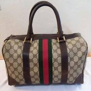 Vintage Gucci Boston Monogram Coated Canvas Bag